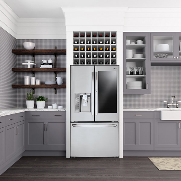LG ENERGY STAR® 26.1 cu.ft.Smart Wi-Fi Enabled Side-By-Side Refrigerator with InstaView™ Door-in-Door®