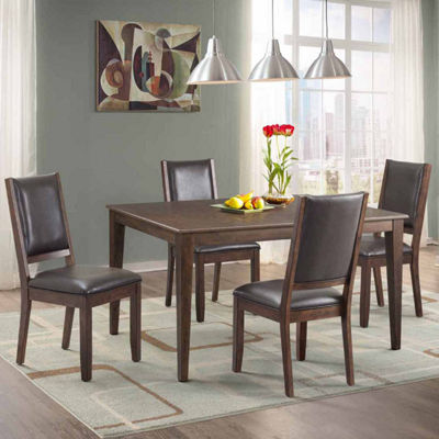 Dining Possibilities 5-Piece Rectangular Table with Upholstered Chairs