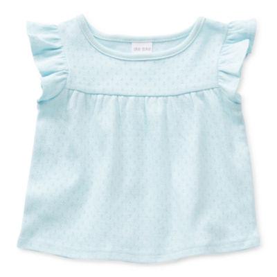 Okie Dokie Baby Girls Round Neck Short Sleeve T-Shirt