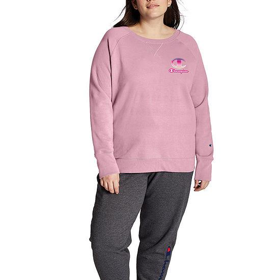 Champion Womens Crew Neck Long Sleeve Sweatshirt Plus