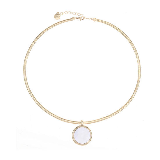 Monet Jewelry 18 Inch Omega Round Pendant Necklace
