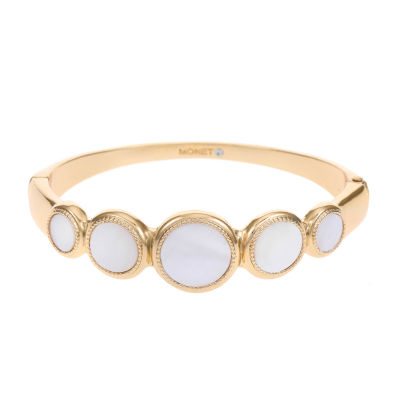 Monet Jewelry Gold Tone Round Bangle Bracelet