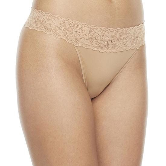 Ambrielle 1 Pair Microfiber Thong Panty