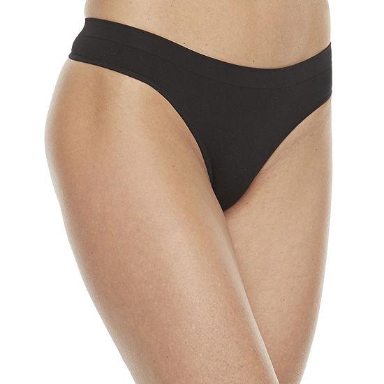 Ambrielle Seamless Knit Thong Panty 11p019