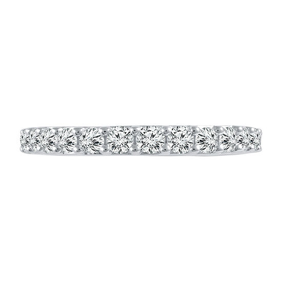3/4 CT. T.W. Genuine White Diamond 14K White Gold Band