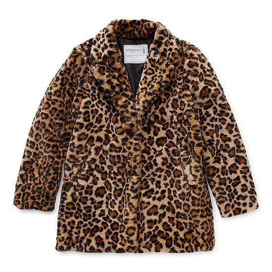 Arizona Girls Midweight Faux Fur Coat