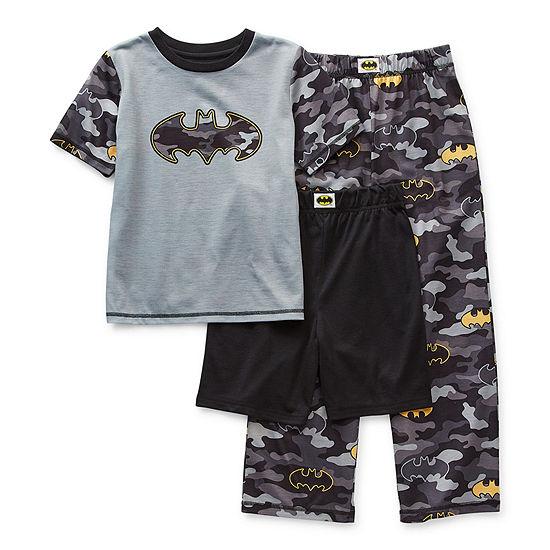 Little & Big Boys 3-pc. Batman Pajama Set