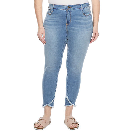 a.n.a Womens Mid Rise Slim Stretch Jeggings - Plus