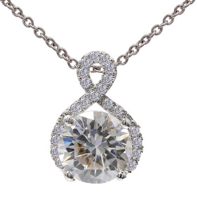 Silver Enchantment™ Cubic Zirconia Sterling Silver Infinity Pendant Necklace