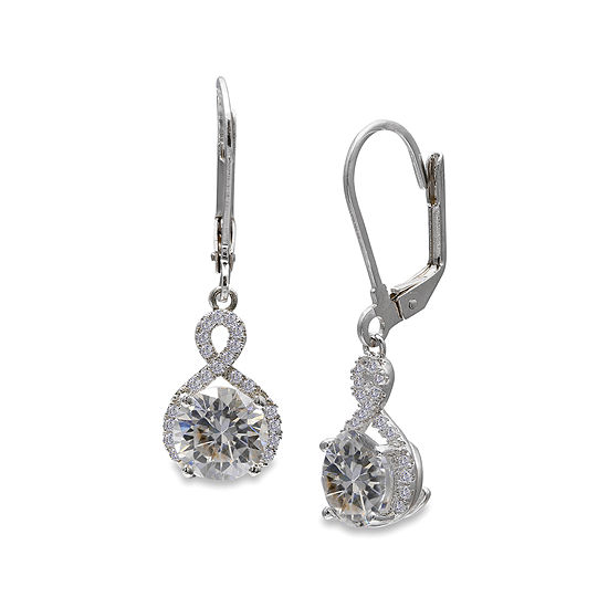 Silver Enchantment™ Cubic Zirconia Sterling Silver Infinity Drop Earrings