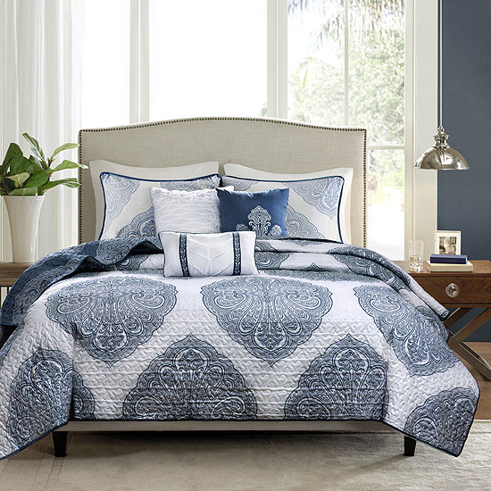 Madison Park Rebecca Reversible 6-pc  Coverlet Set