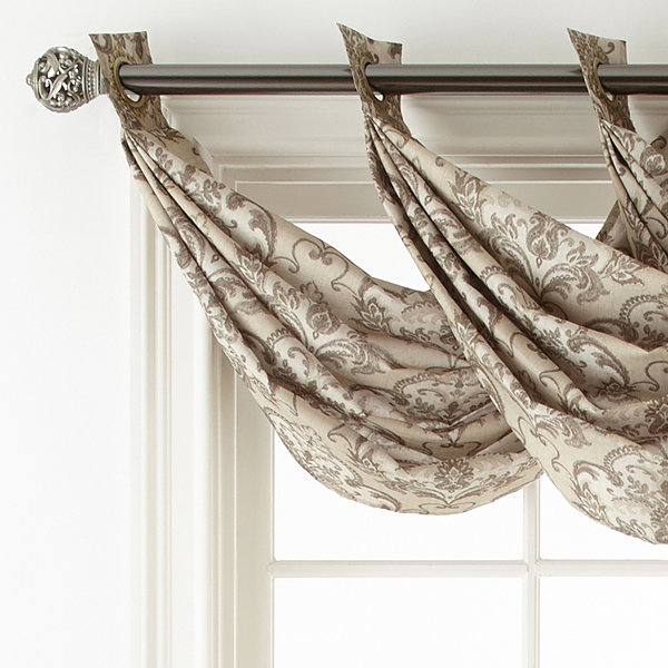 Royal Velvet® Blaine Lined Grommet-Top Waterfall Valance