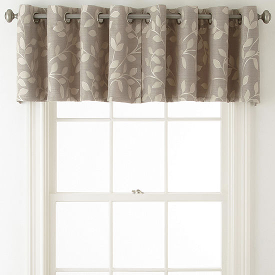 Jc Penney Home Collection: JCPenney Home™ Quinn Leaf Grommet-Top Insert Valance-JCPenney
