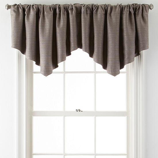 Liz Claiborne Quinn Basketweave Rod Pocket Single Ascot Valance