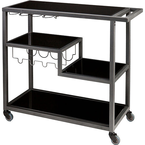 Holly And Martin Zephs Bar Cart Color Gunmetal Gray Jcpenney