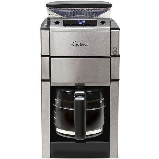 Capresso Coffeeteam Pro Glass Coffee Grinder Maker