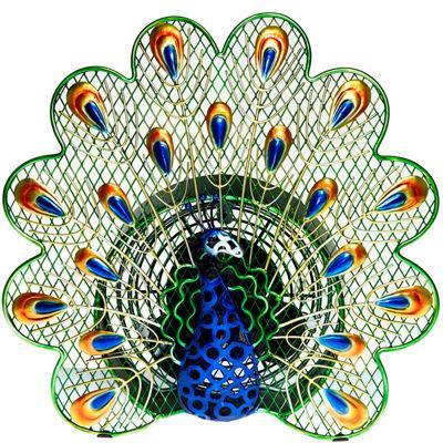 Deco Breeze® Peacock Shaped Decorative Figurine Fan