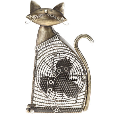 Deco Breeze Cat Figurine Fan