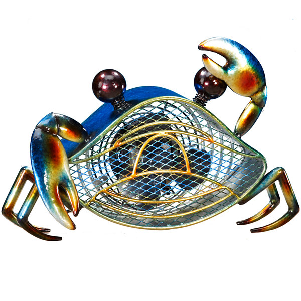 Deco Breeze® Blue Crab Shaped Decorative Figurine Fan