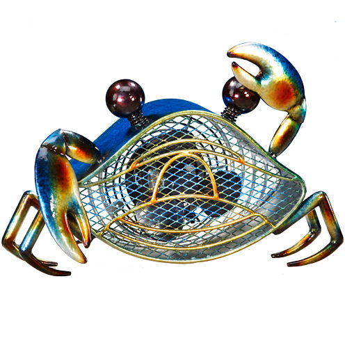 Deco Breeze Blue Crab Figurine Fan