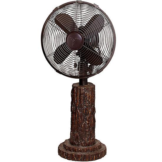 "Deco Breeze® 10"" Fir Bark Deco Table Fan"