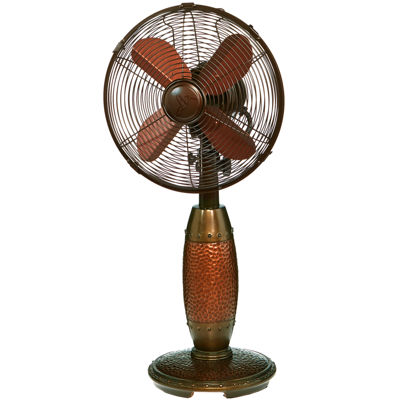 """Deco Breeze® 10"""" Rhythm Hammered Copper Table Fan"""