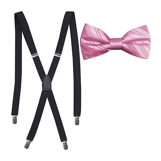 JF J. Ferrar® Striped Bowtie and Suspender Set