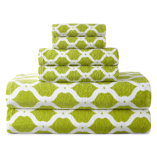 Jcpenney Home Ogee Trellis Bath Towel Collection Jcpenney