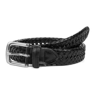 Haggar® 30MM Leather Braided Belt