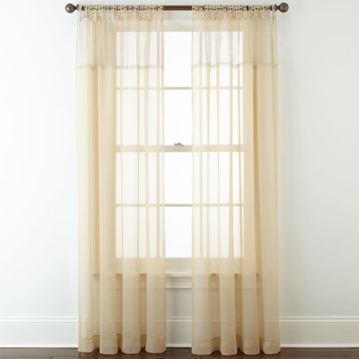 Liz Claiborne® Lisette Macramé Sheer Tab-Top Curtain Panel