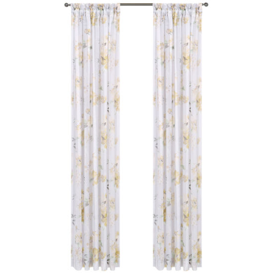 Imperial Garden Rod-Pocket Sheer Curtain Panel