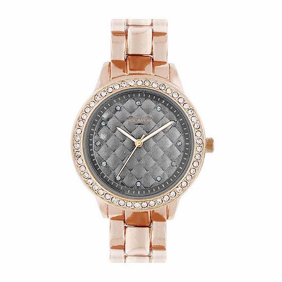 Rocawear Womens Rose Goldtone Bracelet Watch-Rl11668rg1-757