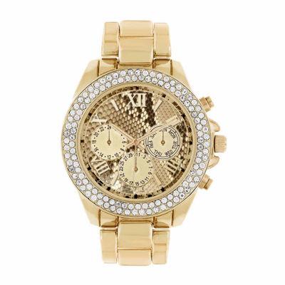 Rocawear Womens Gold Tone Bracelet Watch-Rl11713g1-005