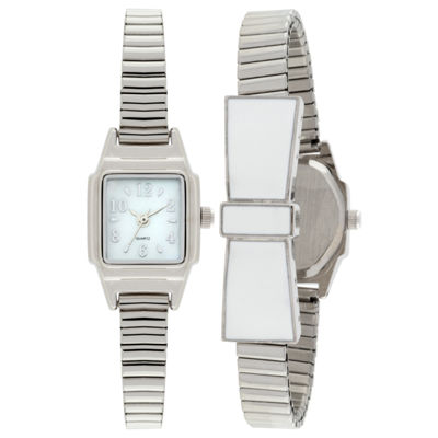 Womens Silver Tone Expansion Watch-Jcp1434