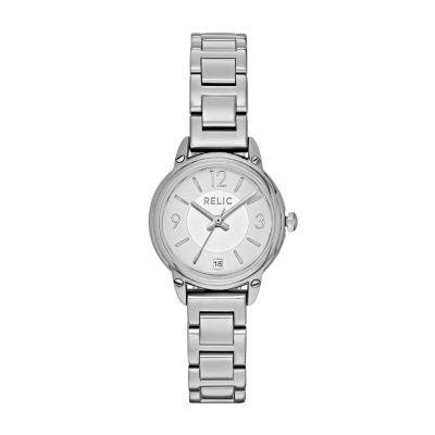 Relic Womens Silver Tone Bracelet Watch-Zr34387