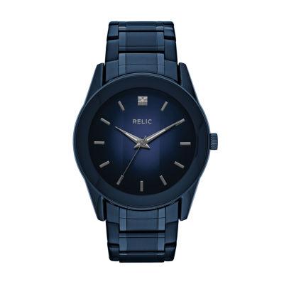 Relic Mens Blue Bracelet Watch-Zr77281