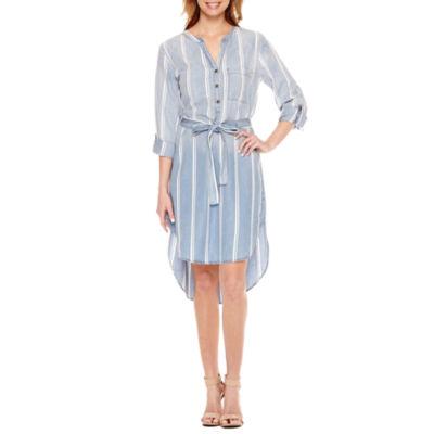 Luxology Long Sleeve Shirt Dress