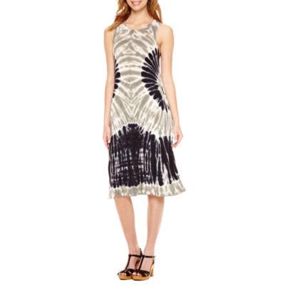 a.n.a Sleeveless Tie Dye Swing Dresses