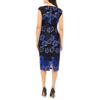 Melrose Short Sleeve Floral Sheath Dress