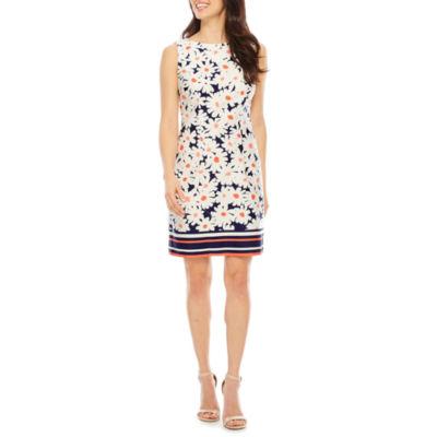 R & K Originals Sleeveless Floral Shift Dress
