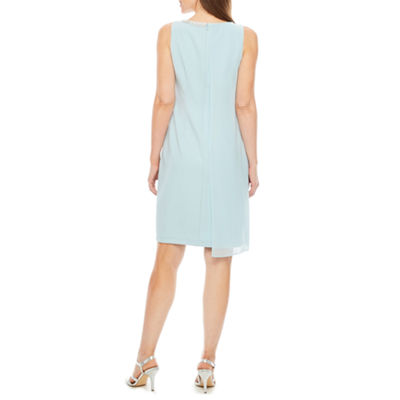 S. L. Fashions Sleeveless Shift Dress