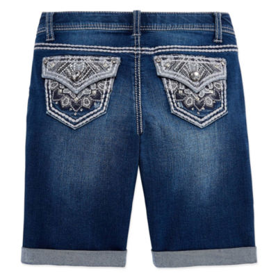 Arizona Denim Bermuda Shorts - Big Kid Girls Plus