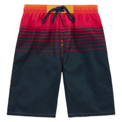 Burnside Boys Solid Swim Trunks-Big Kid