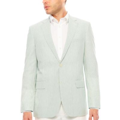 Stafford Classic Fit Seersucker Stripe Sport Coat