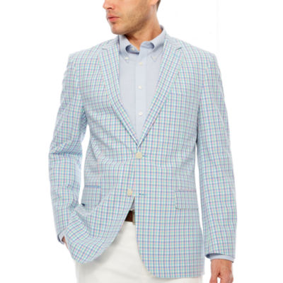 Stafford Classic Fit Woven Plaid Sport Coat