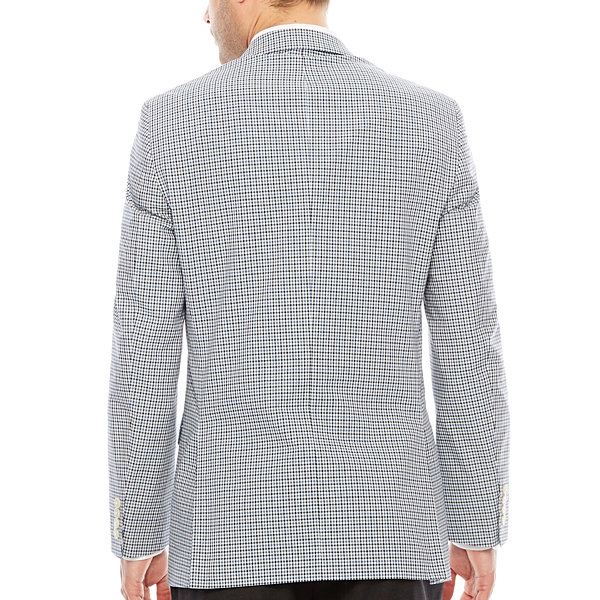 Stafford Classic Fit Woven Checked Sport Coat
