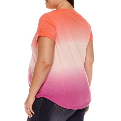 a.n.a Short Sleeve Scoop Neck T-Shirt-Womens Plus Maternity