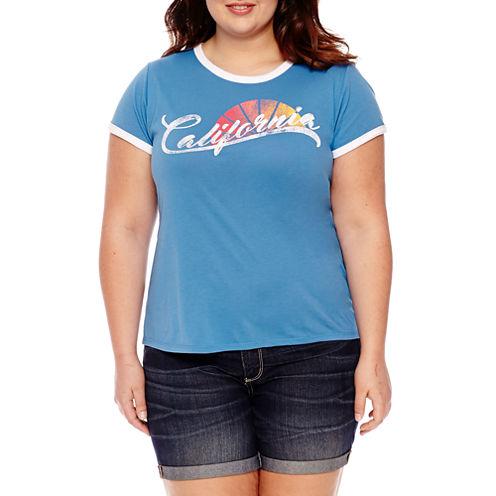 "Arizona ""California"" Graphic T-Shirt- Juniors Plus"