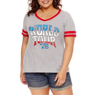 """Arizona """"World Tour"""" Graphic T-Shirt- Juniors Plus"""