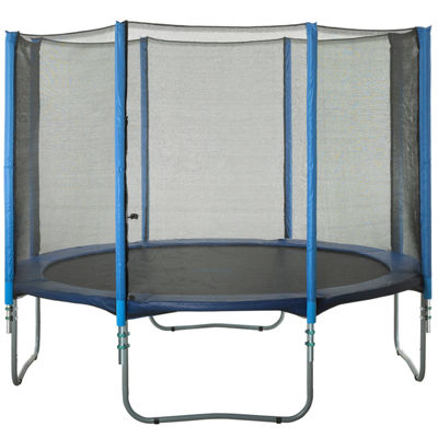 Upper Bounce Trampoline Enclosure Set  to fit 10 ft  for 4 or 8 W-Shaped Legs (Net Poles & HardwareOnly)